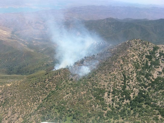 Peaks Fire located in the Four Peaks Wilderness Area.