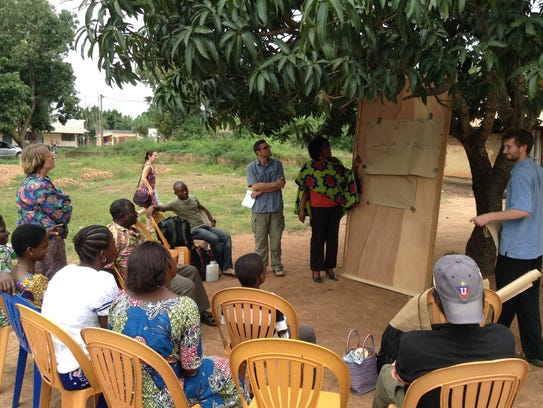 While in Togo, Africa, Ben Todd put on education programs
