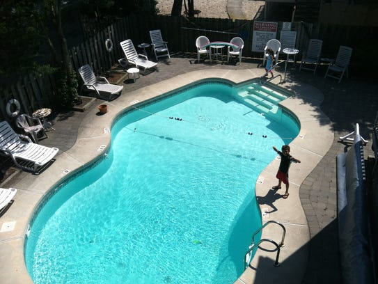 A pool, such as this one at Hyrdrangea House, is a