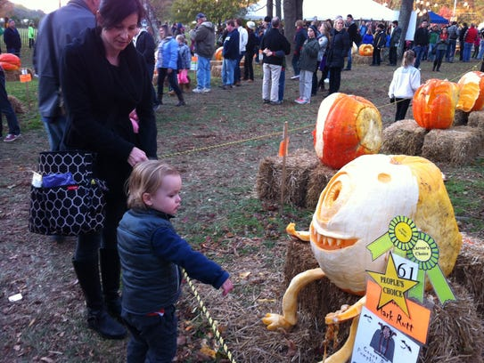 At the Chadds Ford Great Pumpkin Carve, dozens of 400-pound