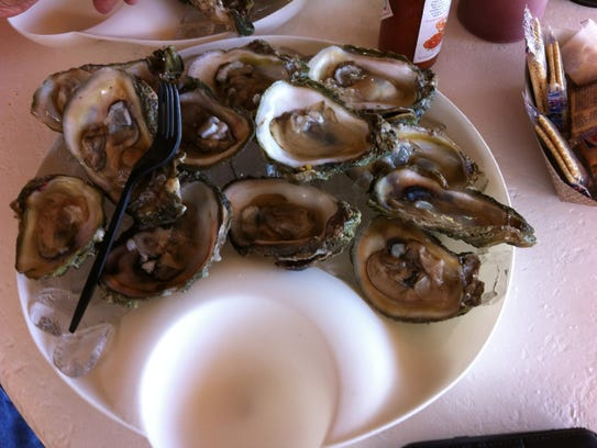 The oysters at Old Florida Grill are big, fresh, flavorful,