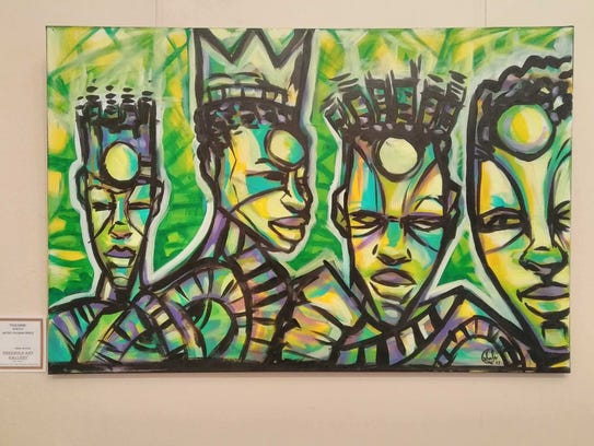 """""""Four Kings"""" by Suliman Onque."""