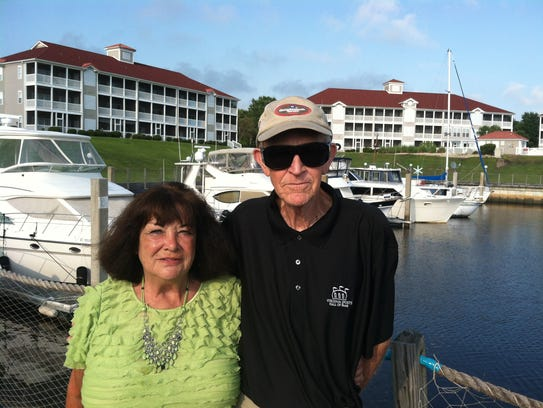Judy and Paul Hatcher at Coquina Harbor in Little River,