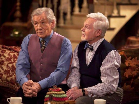 """Ian McKellen and Derek Jacobi in """"Vicious."""""""