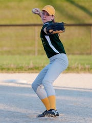 Fremont's Faith Beaver has impressed coaches with her pitching. Catching, however, is Beaver's first love.