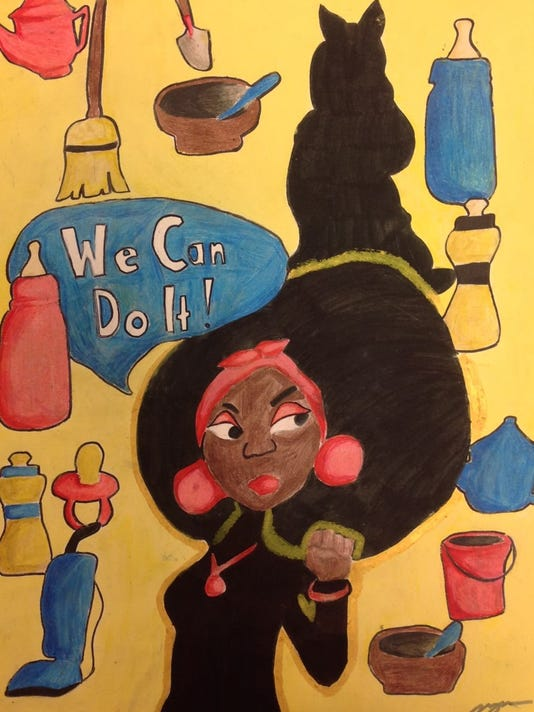 Student artwork on Institutionalized Racisim