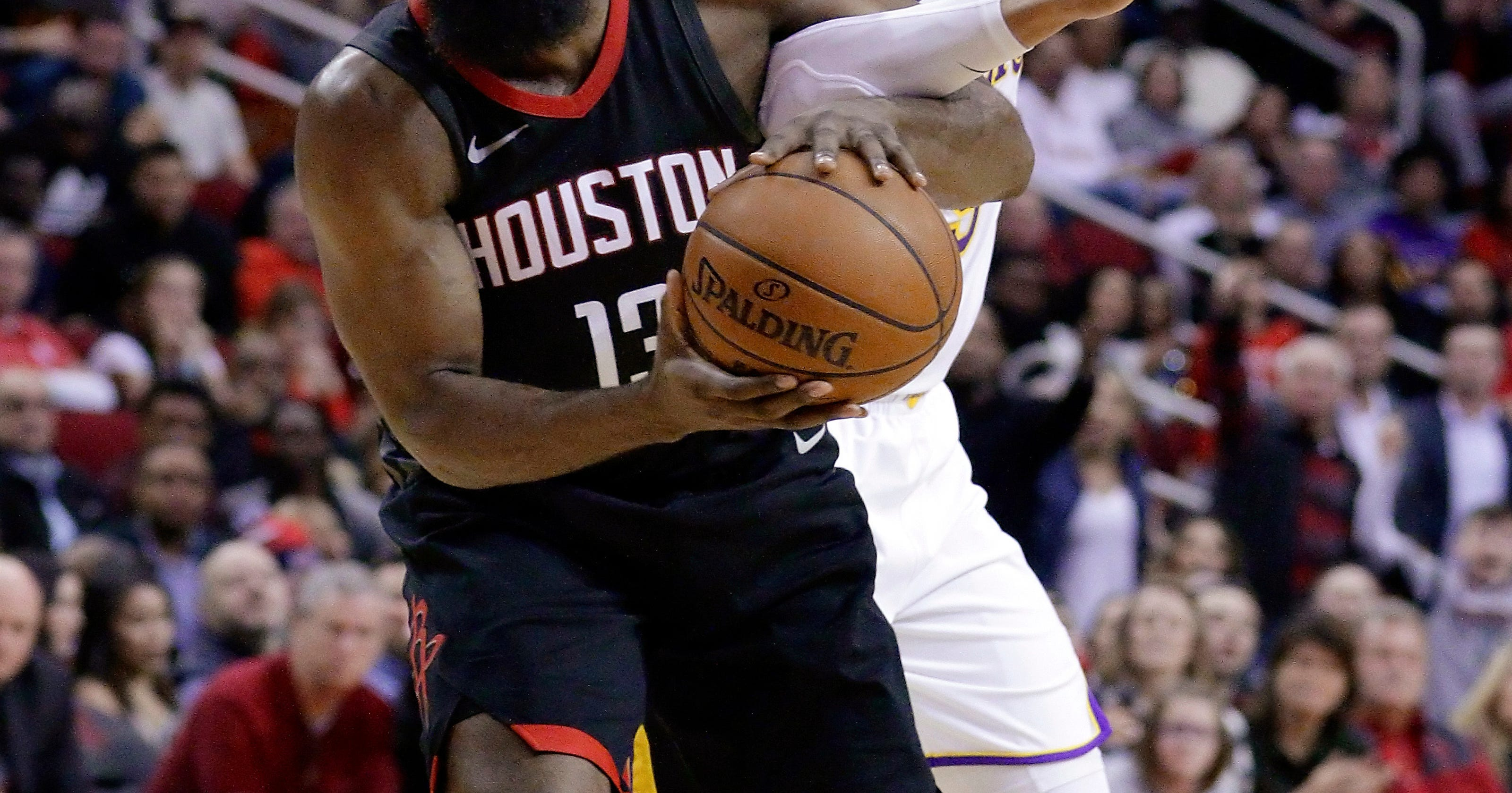 671afdb27f04 Houston s Harden out at least 2 weeks with hamstring injury