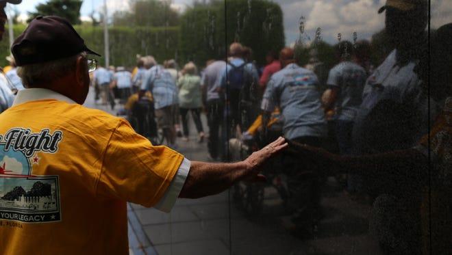 Honor Flight veterans will visit the National World War II Memorial, Korean War Veterans Memorial and the Vietnam Veterans Memorial, among others.