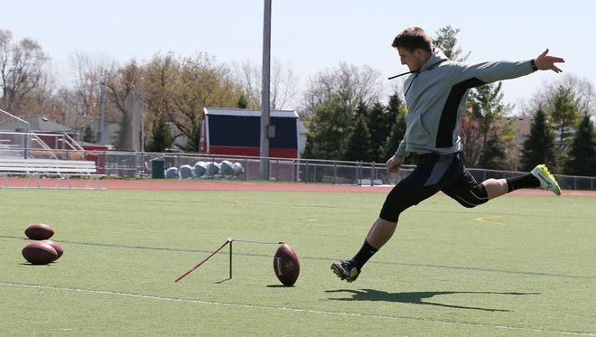 A constant throughout Kyle Brindza's football career, whether at Plymouth or Notre Dame, is his unwavering work ethic. Last week, Brindza worked on his kicking technique during a session at the Park.