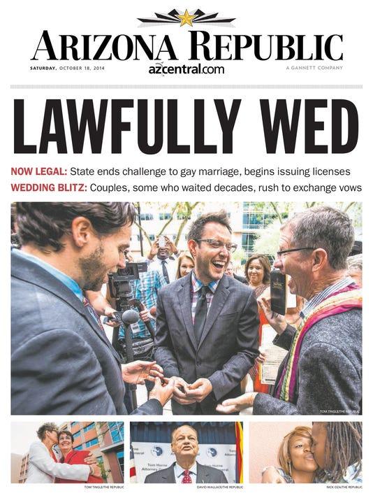 Arizona Republic front page