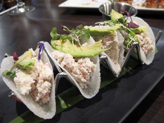 Jicama Tacos with surimi at the new Divieto Ristorante