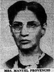 Mrs. Manuel Provencio Sr. had four sons serving in