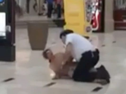 Accused topless shoplifter