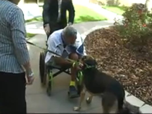 Vet reunited with dog