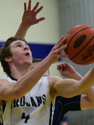 Cade Brindle finished with nine rebounds in the Trojans' win Wednesday over South Western.