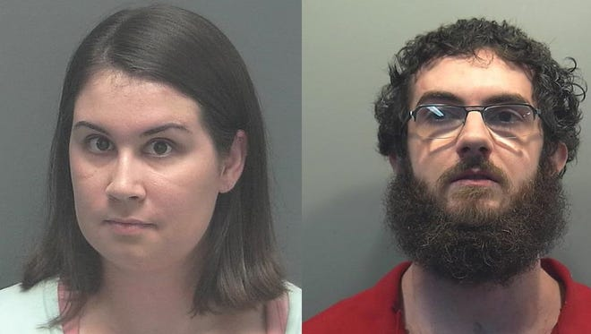 The Lee County Jail mugshots of Robin Yanda (left) and Robert Loveland (right).