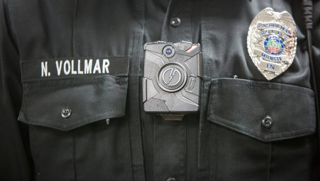 The Muncie Police Department has outfitted 90 body cameras with the department's uniform officers. Muncie Police Chief Steve Stewart said he had received no citizen complaints that would have prompted him to review the nearly 20,000 recordings logged by the cameras so far.