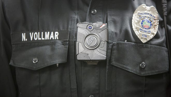Muncie's Police Department recently provided 90 body cameras for its uniform officers.