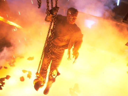 "Arnold Schwarzenegger's indestructible cyborg in ""Terminator"