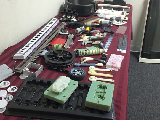 Some of the prototypes and production parts Eck Plastic