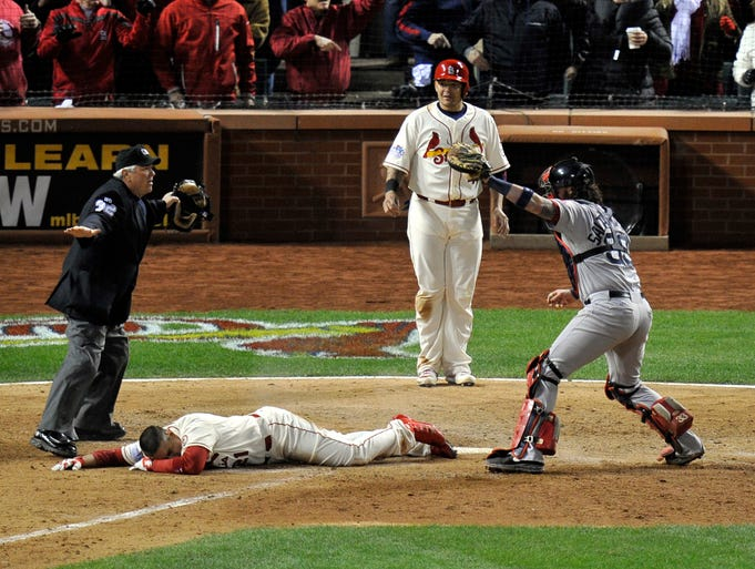Since 2000, there have been nine walk-off wins in the World Series, but none like what happened in Game 3 of the 2013 Series. A look back: St. Louis Cardinals' Allen Craig is called safe at home after an obstruction call at third base against the Boston Red Sox.