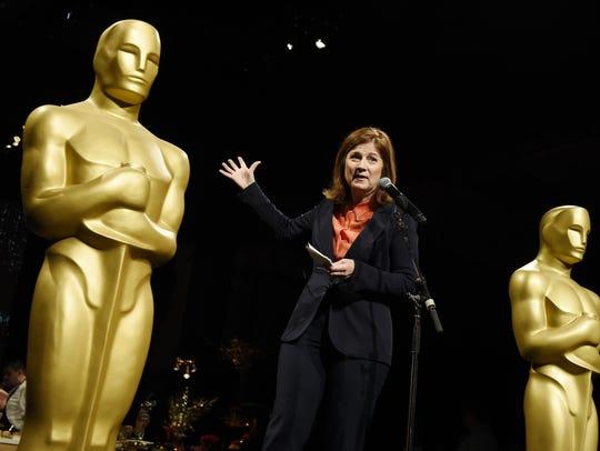 Event producer Cheryl Cecchetto addresses the media
