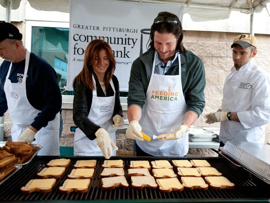 Pirates Pitcher Jason Grilli Teams Up With Feeding America To Serve Grilled Cheese Sandwiches For Americans Facing Hunger In Pittsburgh