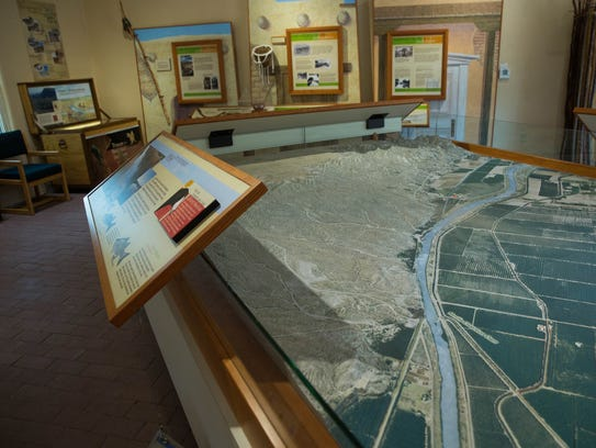 The museum in the Visitors Center at Mesilla Valley