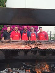 Barbecue boys at California Giant fundraiser.