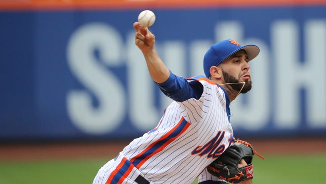 New York Mets starting pitcher Gabriel Ynoa (63) pitches during the first inning against the Minnesota Twins at Citi Field. Mandatory Credit: Anthony Gruppuso-USA TODAY Sports