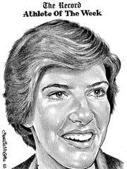 Athlete of the Week Anne Donovan. Charlie McGill Illustration. December 12, 1978