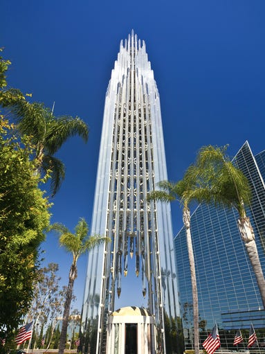 Built almost entirely of reflective glass,