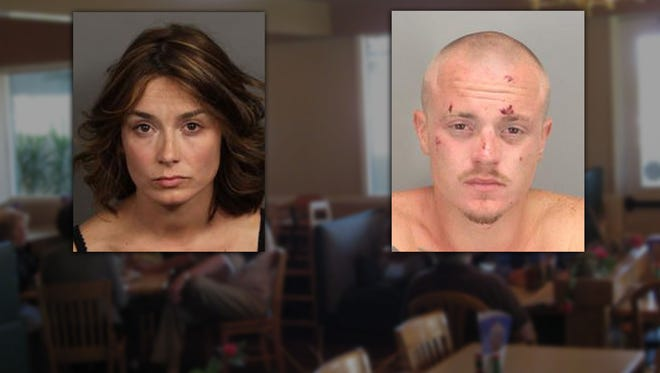 Shona Morrison and Shawn Deans were arrested after police say they dined and dashed at Elmer's Restaurant.