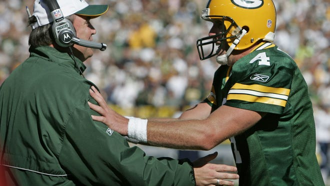 Green Bay Packers quarterback Brett Favre and coach Mike McCarthy found themselves at opposite ends of a messy saga that played out in the 2008 offseason.