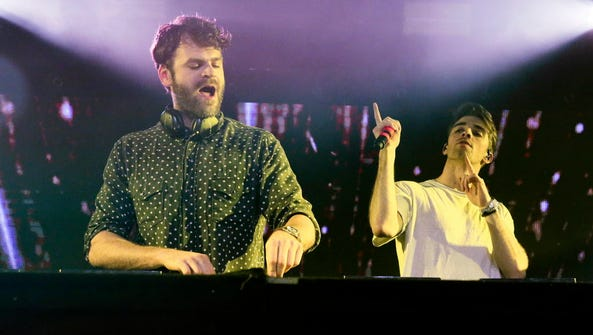 The Chainsmokers (Alex Pall, left, and Drew Taggart)