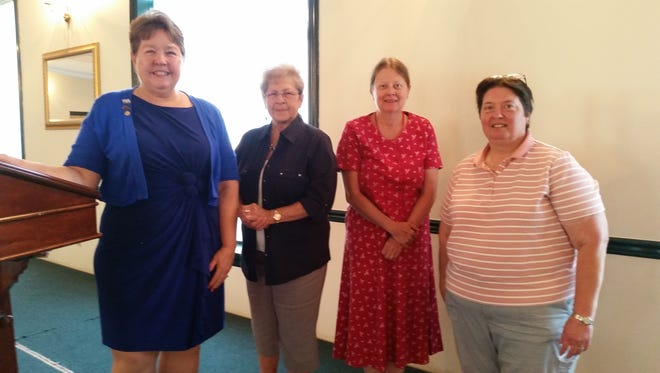 From left to right: Vice President, Jo Ellen Litz; Treasurer, Janet Henning; Secretary, Janell Shaffer Yoder; and President, Jennifer Eisenhower.