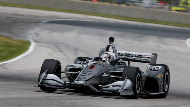Team Penske's Josef Newgarden paced all drivers  during Friday's  Verizon IndyCar Series practice sessions at Road America in Elkhart Lake, Wisconsin.