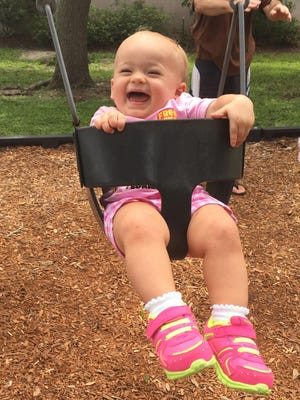Isabella loves swigning at Gleason Park in Indian Harbour Beach.
