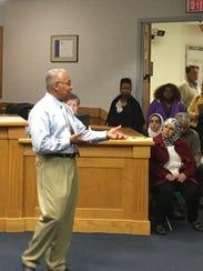Staunton Vice Mayor Ophie Kier introduces his vision