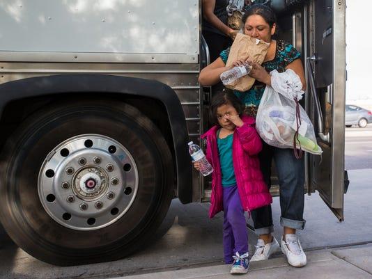 Arizona immigrants bus