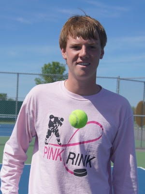 Marshfield senior Bryce Gadke qualified for the WIAA state tennis tourament and has a record of 20-5 entering the event.