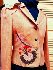 Upcycled jacket by Shirley Senarighi, who is showing