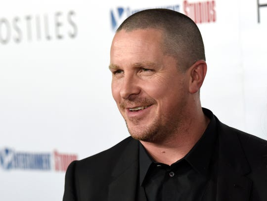 "Christian Bale arrives at the premiere of ""Hostiles"""