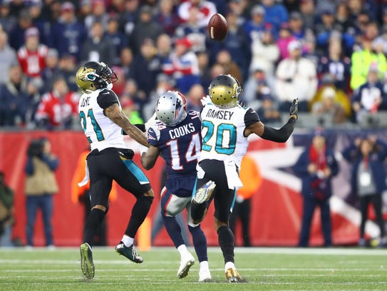Jacksonville cornerbacks A.J. Bouye and Jalen Ramsey