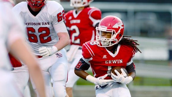 C.J. Thompson and Erwin beat Davidson Day, 41-28, on