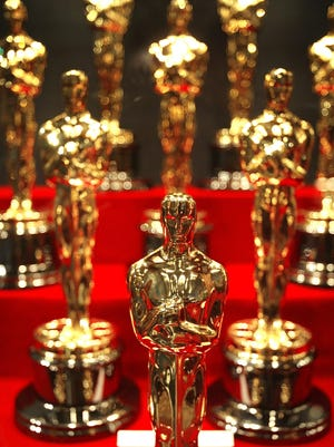 CHICAGO - JANUARY 23: Oscar statuettes are displayed during an unveiling of the 50 Oscar statuettes to be awarded at the 76th Academy Awards ceremony January 23, 2004 at the Museum of Science and Industry in Chicago, Illinois. The statuettes are made in Chicago by R.S. Owens and Company. (Photo by Tim Boyle/Getty Images)