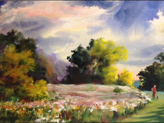 "Thirty-year Plymouth resident Sue Strandberg has created and donated ""Meadow at Fisher Creek,"" an original watercolor painting valued at $875, for Plymouth Arts Center's annual Big Painting Raffle, held in conjunction with the Arts Center's 12th annual Cheese Capital Jazz Crawl for the Arts."