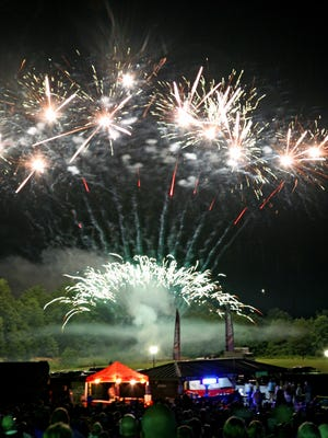 Several thousand people came out to see fireworks and a performance by the Greenville Symphony. at Heritage Park in Simpsonville on 7.2.2016