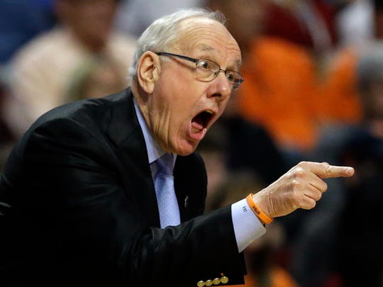 Syracuse's head coach Jim Boeheim served a nine-game suspension earlier this season.