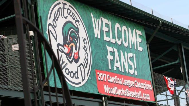 The Down East Wood Ducks host Carolina Mudcats season opener baseball at historic Grainger Stadium in Kinston, N.C., April 4, 2019.